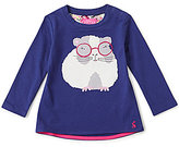 Joules Baby/Little Girls 12 Months-3T Fava Knit Hamster Applique Top