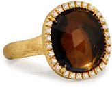 Marco Bicego Jaipur Sunset Diamond-Bezel Smoky Quartz Ring