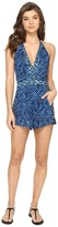 Lucky Brand Shibori Patchwork Knit Romper Cover-Up