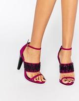 Little Mistress Havilland Embellished Heeled Sandals