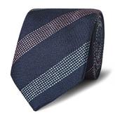Richard James 7.5cm Striped Woven Silk Tie