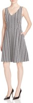 Three Dots Annabeth Printed Fit and Flare Dress