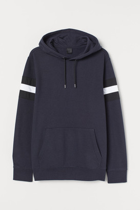 H&M Hoodie with Panels - Blue