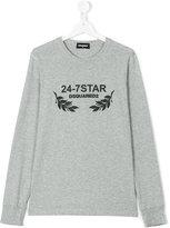 DSQUARED2 24-7 Star sweatshirt - kids - Cotton - 14 yrs