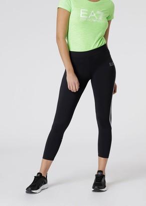 Emporio Armani Stretch Fabric Leggings With Logo Strap