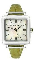 Ted Baker Women's TE2017 Green/White Leather Watch