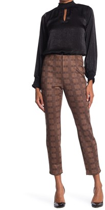 T Tahari Plaid Faux Suede Pull-On Pants