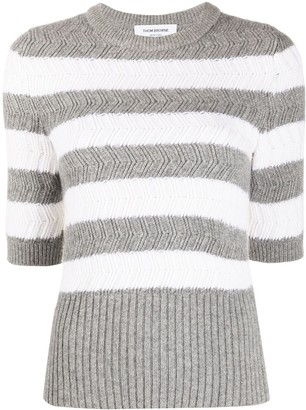 Thom Browne Striped Knitted Top