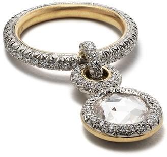 hum Diamond Foundry x Dover Street Market 18kt yellow gold, platinum and diamond Ring 3