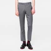 Paul Smith Men's Slim-Fit Grey 'A Suit To Travel In' Wool Trousers