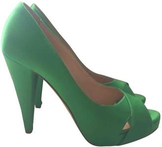 Bally Green Cloth Heels