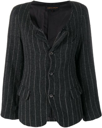 Comme Des Garçons Pre Owned Pinstriped Jacket