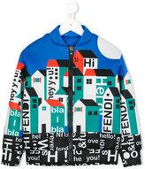 Fendi printed bomber jacket - kids - Polyester/Viscose - 4 yrs