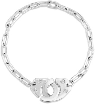 Audrey C. Jewels XL Partners in Crime Handcuff Bracelet with Diamonds