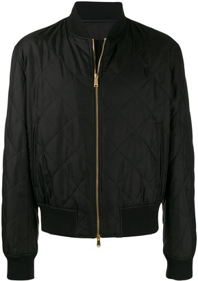 Versace Dragon Quilted Bomber Jacket