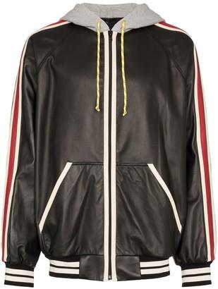 Gucci Logo-Print Hooded Bomber Jacket