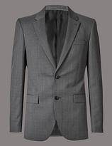 Autograph Grey Tailored Fit Italian Wool Jacket