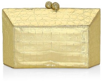 Nancy Gonzalez Gramercy Crocodile Box Clutch