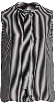 Misook, Plus Size Pinstripe Tie-Neck Blouse