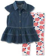 Tommy Hilfiger Two-Piece Denim Tunic and Printed Legging Set