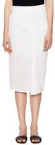 Helmut Lang Entity Draped Jersey Skirt
