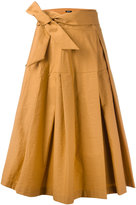 Jil Sander Navy wrap skirt - women - Cotton/Polyamide - 36