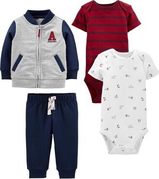 Simple Joys by Carter's Boys' 4-Piece Fleece Jacket Pant and Bodysuit Set
