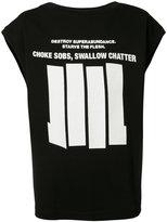 Niløs sleeveless graphic T-shirt - men - Cotton - 2
