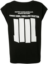 Niløs sleeveless graphic T-shirt
