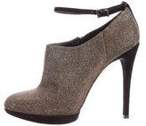 Brian Atwood Iridescent Ankle Strap Booties