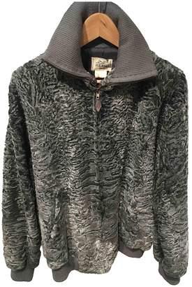Hermes Grey Astrakhan Leather jackets