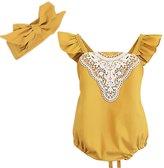 ephex Baby Girls Romper Sunsuit Jumpsuit with Headband