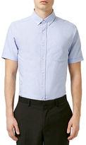 Topman Oxford Short-Sleeve Sport Shirt