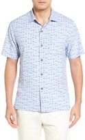 Tommy Bahama Men's Geo Chaser Silk Blend Camp Shirt