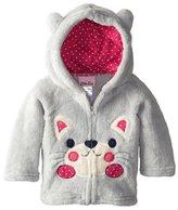 Zhuannian Baby/ Toddler Girls Boys Animal Pattern Full-zip Fleece Hooded Jackets