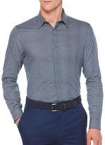 Perry Ellis Cotton Checked Regular-Fit Dress Shirt
