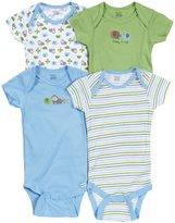 Gerber 4 Pack Onesies (Baby) - Blue-24 Months