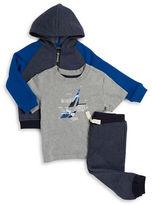Nautica Baby Boys Zip-Up Hoodie, Tee and Sweatpants Set