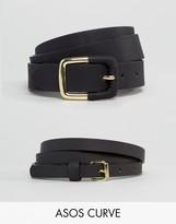 Asos 2 Pack Skinny Waist Belt and Jeans Belt