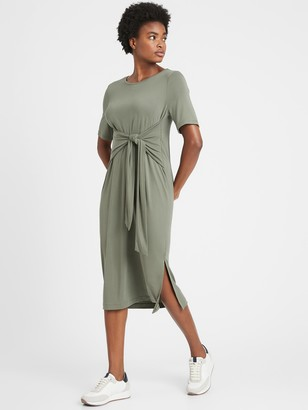 Banana Republic Petite Sandwash Modal Twist-Front Dress