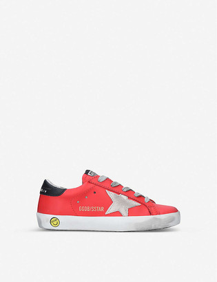 Golden Goose Superstar B54 star-patch leather trainers 6-9 years