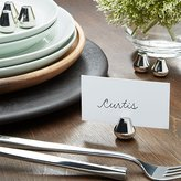 Crate & Barrel Silver Place Card Holders, Set of 6