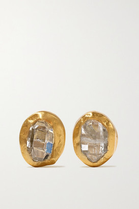 Pippa Small 18-karat Gold Herkimer Diamond Earrings