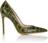 """Gianvito Rossi Women's """"Gianvito"""" Alligator Pumps-Green"""