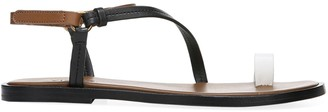 Vince Perrigan Leather Toe Strap Sandals