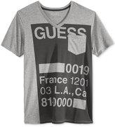 GUESS Men's Stencil Graphic-Print Logo V-Neck T-Shirt