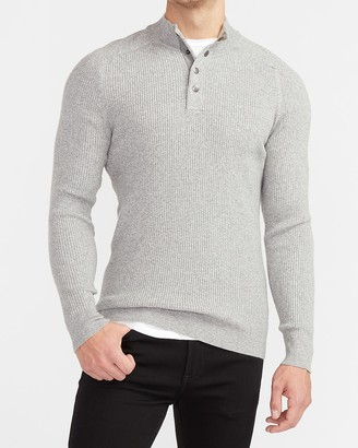 Express Ribbed Rayon Stretch Mock Neck Sweater