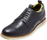 Cole Haan OriginalGrand Neoprene-Lined Wing-Tip Oxford, Marine Blue/Ironstone