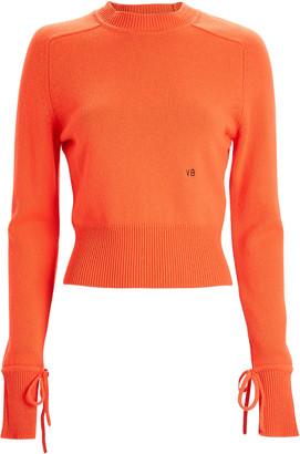 Victoria Beckham Cropped Cashmere Crewneck Sweater