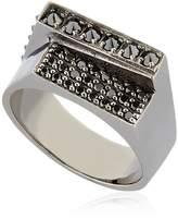 Federico Primiceri Chaos Black Rhodium Plated Ring